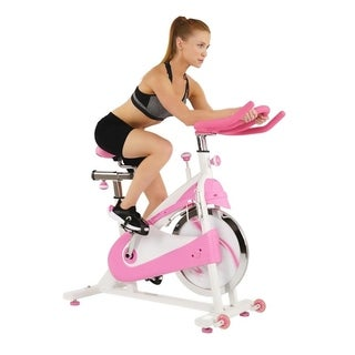 Sunny Health and Fitness P8150 Pink Belt Drive Premium Indoor Cycling Bike