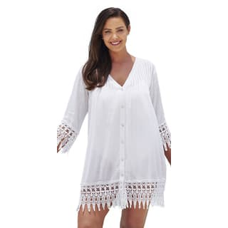 White Crochet Trim Cover Up|https://ak1.ostkcdn.com/images/products/11179025/P18172054.jpg?impolicy=medium
