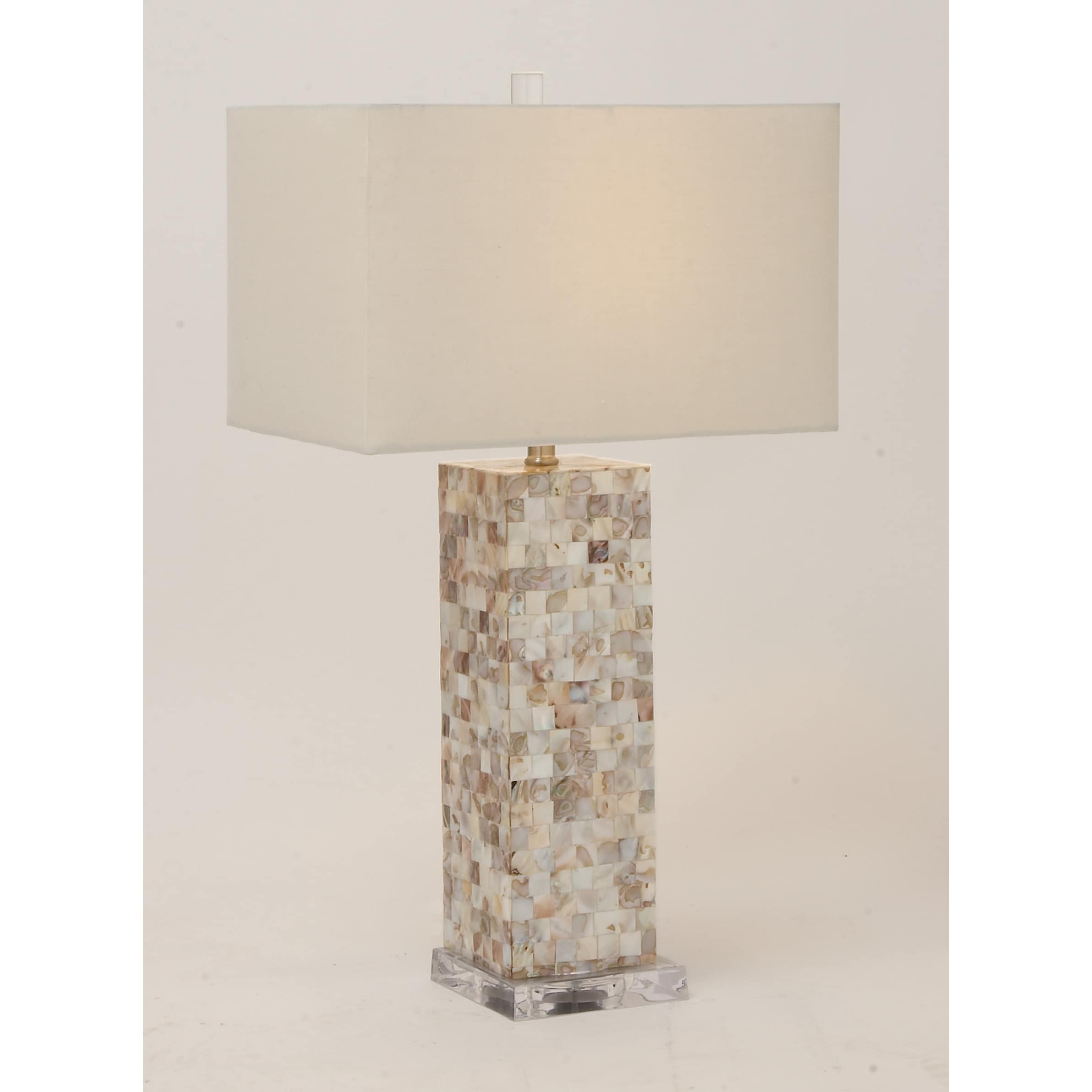 hand free overstock garden home crafted shipping pearl mosaic table casa matte lamp cortes product today