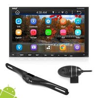 Pyle PLDNANDVR695 Android GPS/ Bluetooth Stereo Receiver/ Dual Camera HD DVR Dash Cam with Wi-Fi Web Browsing and App Download