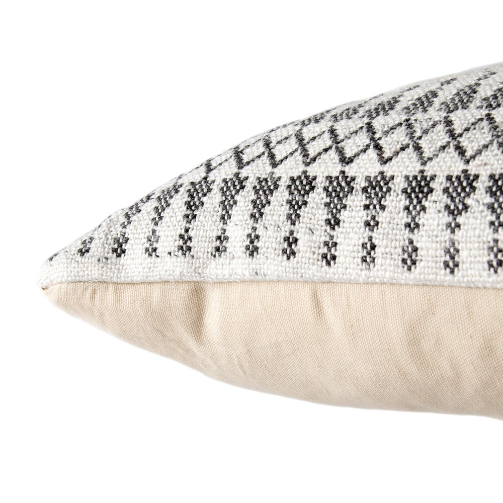 Shop Tribal Pattern Ivory/Gray Throw Pillow 20-inch - 11179052