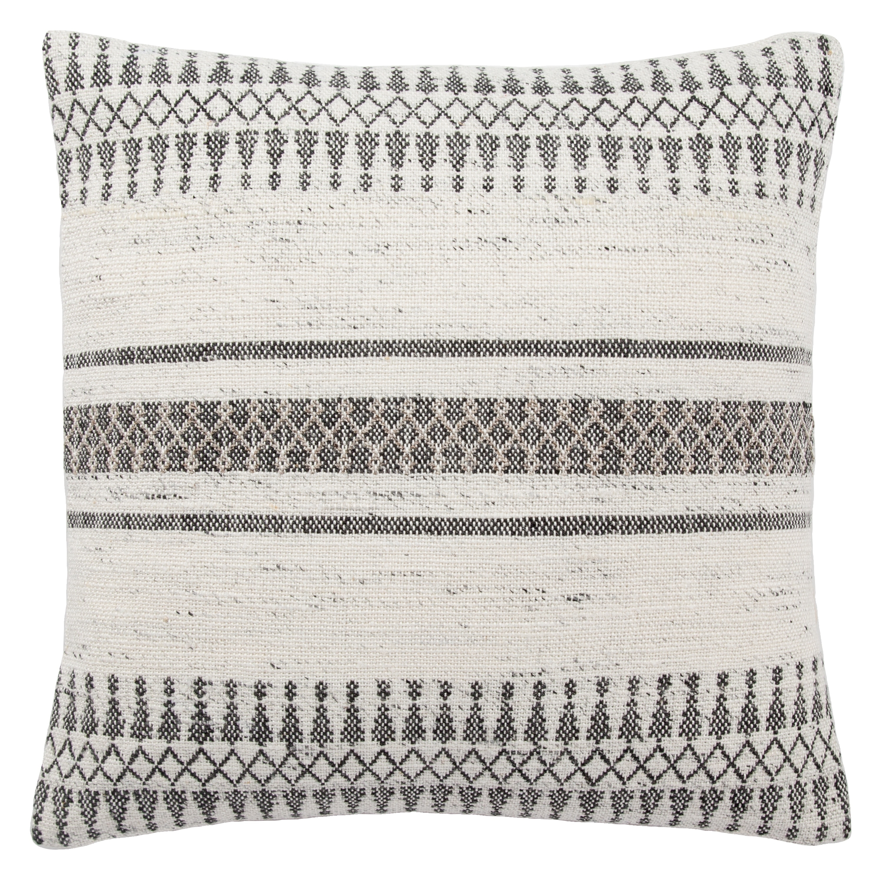Shop Tribal Pattern Ivory/Gray Throw Pillow 20 inch   Overstock