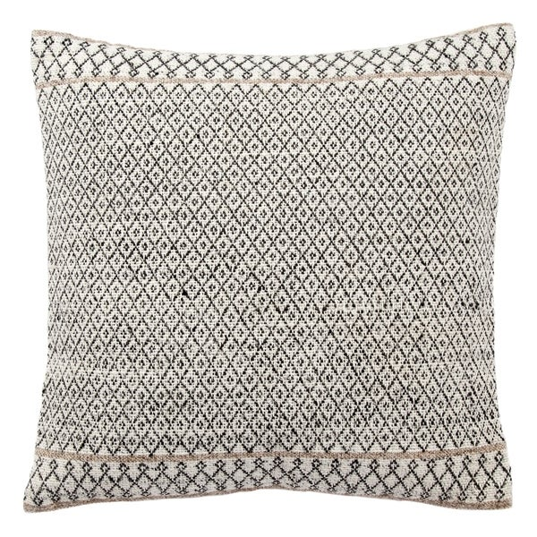 Tribal Pattern Ivory/Black Throw Pillow 18-inch