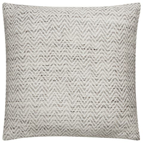 Tribal Pattern Grey/White Viscose and Rayon from Bamboo Throw Pillow 22-inch