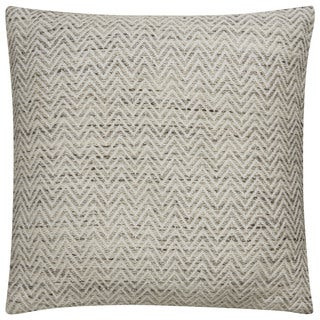 Tribal Pattern Ivory/Black Viscose and Rayon from Bamboo Feather Filled Throw Pillow 22-inch