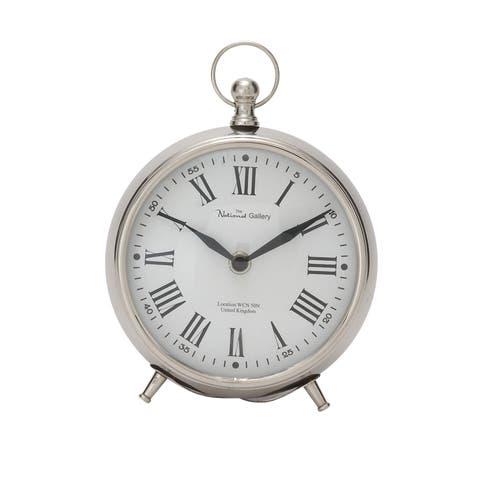 Copper Grove Star Metal 7-inch Table Clock
