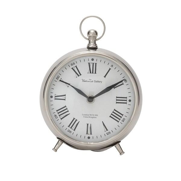 Metal 7-inch Table Clock