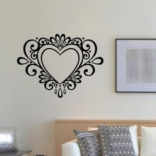 A heart Flowers Vinyl Wall Art Decal Sticker