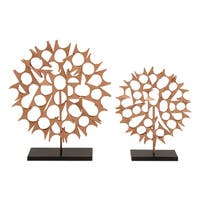 Oliver & James Buri Metal Table Top Sculptures (Set of 2)