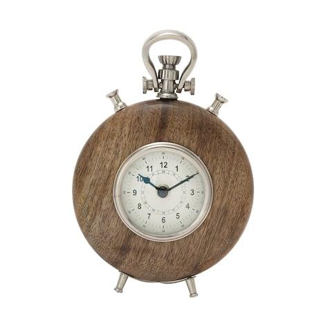 Carson Carrington Alavus Wood Metal 9-inch Table Clock