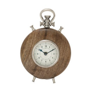 Wood Metal 9-inch Table Clock - Thumbnail 0