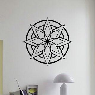 Mandala Star Wall Art Decal Sticker