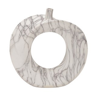 White Ceramic Marble Vase