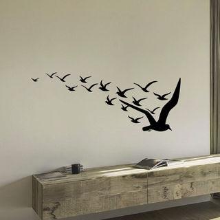 Flight Of Bird Wall Art Decal Sticker