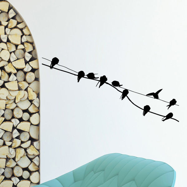 Many Birds Wall Art Decal Sticker
