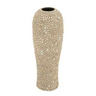 Gold Ceramic Shell Vase