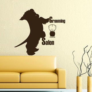 Hairdresser For Dogs Wall Art Decal Sticker
