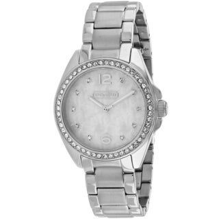 Coach Women's 14501656 Tristen Round Silver-tone Stainless Steel Bracelet Watch