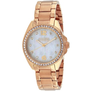 Coach Women's 14501658 Tristen Round Rose Gold-tone Stainless Steel Bracelet Watch