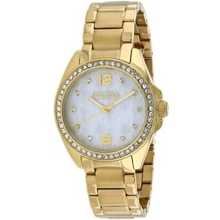 Coach Women's 14501657 Tristen Round Gold-tone Stainless Steel Bracelet Watch