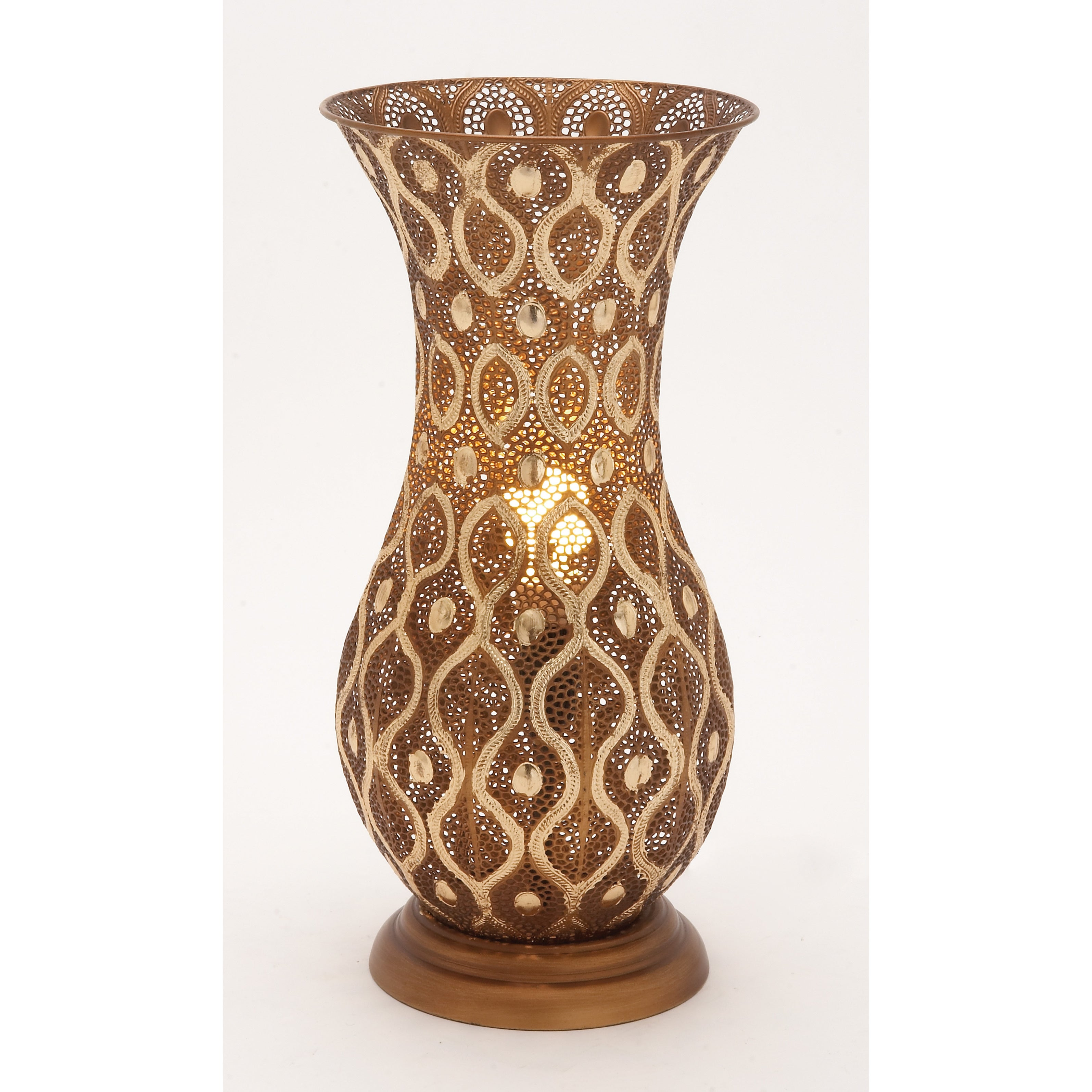 Intricate Metal Vase