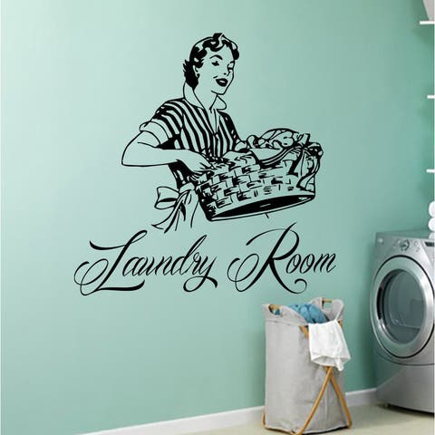 Laundry Room Wall Decal Vinyl Sticker Wash Room Bathroom Home Decor
