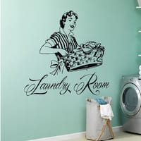 Laundry Room Wall Decal Vinyl Sticker Wash Room Bathroom Home Decor