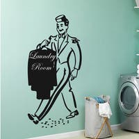 Laundry Room Wall Decor Vinyl Decal Sticker Bathroom Home Decor