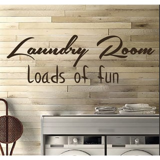 Laundry Room Decor Wall Quotes Wall Art Decal Sticker Brown
