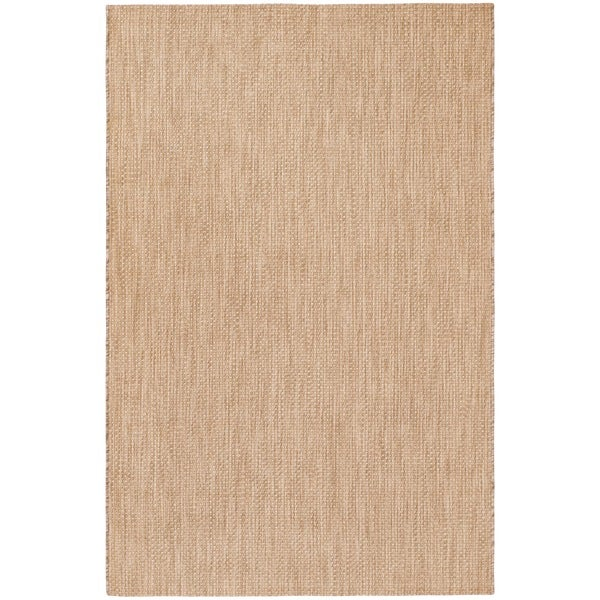 Safavieh Indoor/ Outdoor Courtyard Natural/ Cream Rug - 9' x 12'