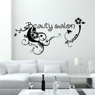 Wall Decal Fashion Flowers Beauty Salon Design Vinyl Decals Wedding Hair Salon Decor Window
