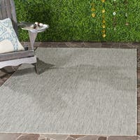 Safavieh Indoor/ Outdoor Courtyard Grey/ Grey Rug (9' x 12')