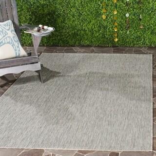 Safavieh Indoor/ Outdoor Courtyard Grey/ Grey Rug (9' x 12')
