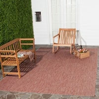 Safavieh Indoor/ Outdoor Courtyard Red/ Red Rug - 8' X 11'