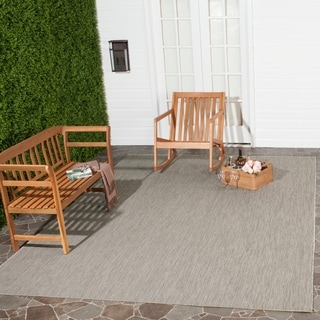 Safavieh Indoor/ Outdoor Courtyard Beige/ Beige Rug (9' x 12')