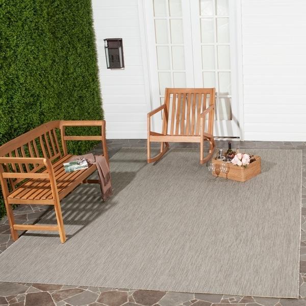 Safavieh Indoor/ Outdoor Courtyard Beige/ Beige Rug - 9' x 12'