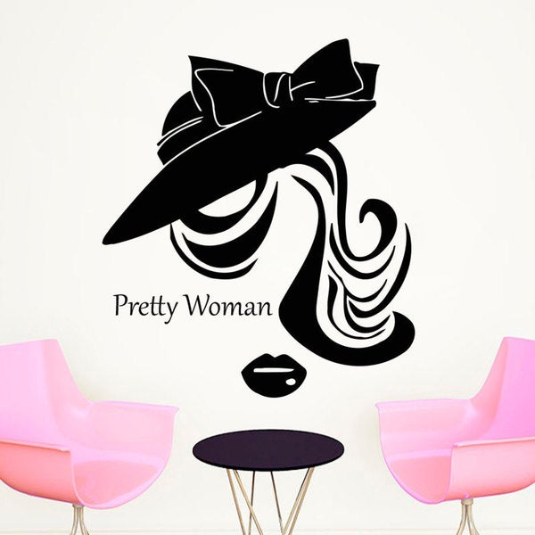 Shop Beauty Salon Wall Decals Woman Face Vinyl Decal Home Decoration - Beautiful-wall-stickers-to-decorate-your-house