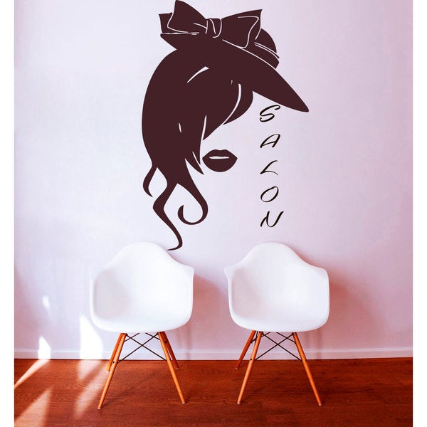 Shop Beauty Salon Wall Decals Woman Face Vinyl Stickers Home Art - Beautiful-wall-stickers-to-decorate-your-house