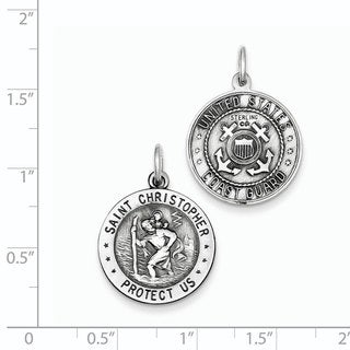 Versil Sterling Silver St.Christopher US Coast Guard Medal