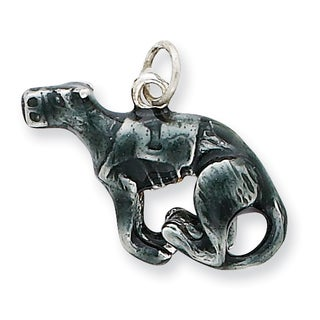 Versil Sterling Silver Enamel Medium Greyhound Charm