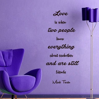 Love Quotes Wall Art Decal Sticker