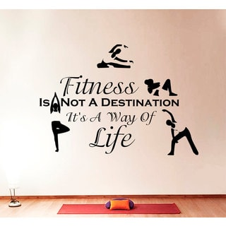 Quotes Sports Fitness Wall Art Decal Sticker