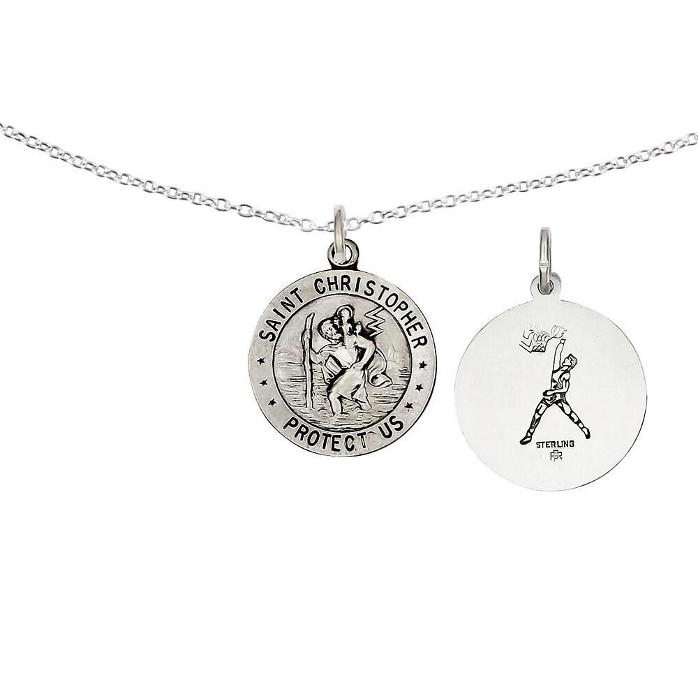 Versil Sterling Silver St. Christopher Basketball Medal w...