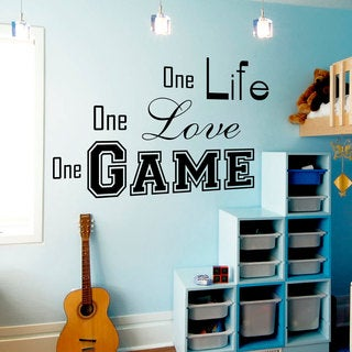 Quotes One Life Wall Art Decal Sticker
