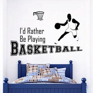 Game Basketball Wall Art Decal Sticker