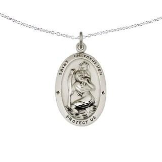 Versil Sterling Silver St. Christopher Medal