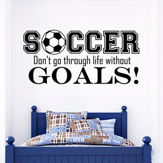 Sports Play Soccer Wall Art Decal Sticker
