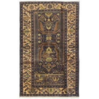 ecarpetgallery Royal Baluch Blue/ Brown Wool Rug (3'10 x 6'3)