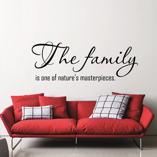 Quote The Family Wall Art Decal Sticker