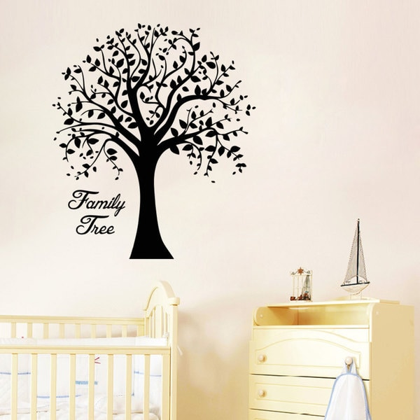 family tree wall art decal sticker free shipping on beautiful family tree wall decal ideas home designing